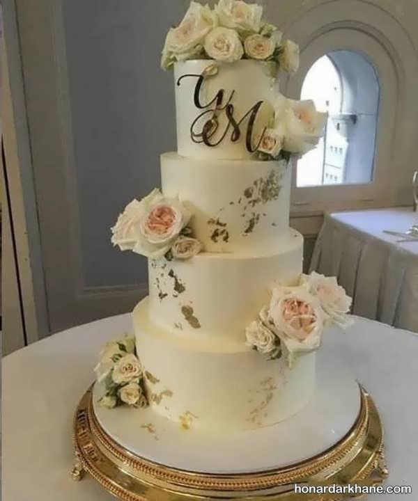 مدل های جدید زیبا سازی کیک با گل