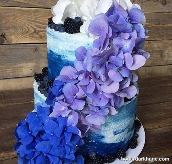 انواع تزیین زیبا کیک با گل