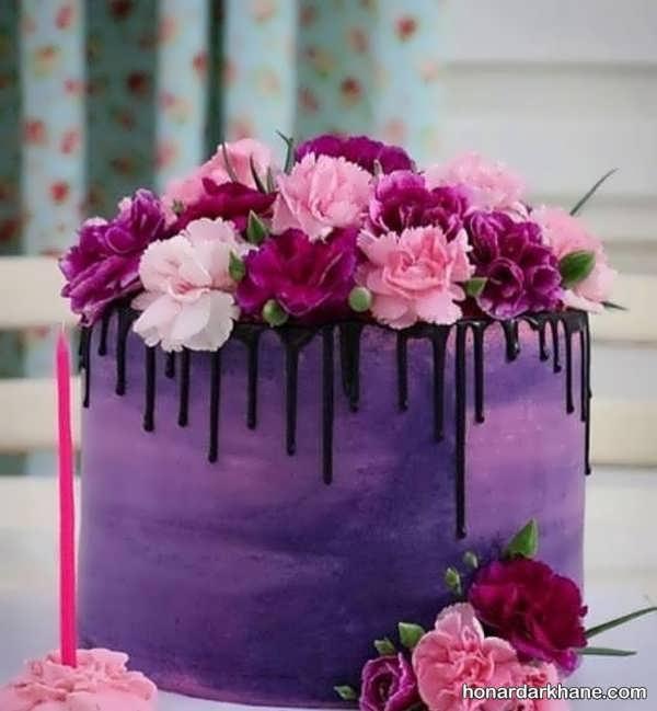 انواع مختلف و جدید تزیین کیک با گل