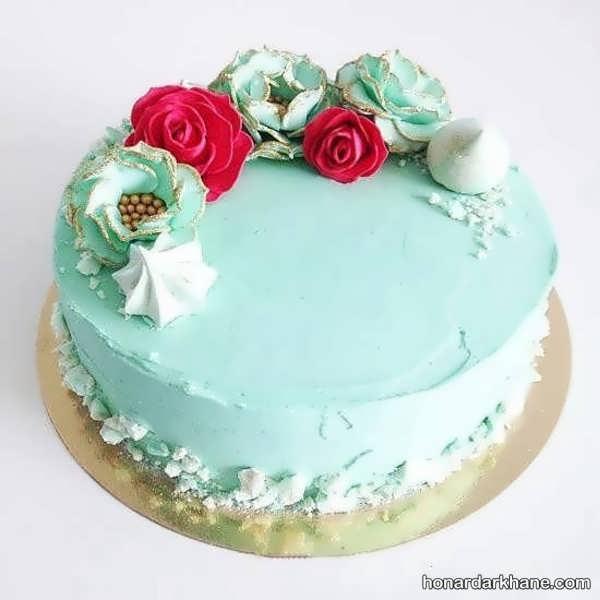 انواع دیزاین خلاقانه کیک تولد با گل
