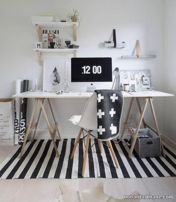 انواع ایده های جدید دیزاین میز کار