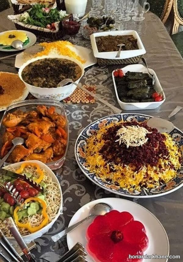 انواع تزیینات جالب غذا برای مجالس مختلف