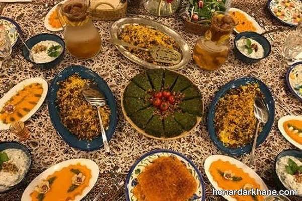 انواع مدل های خاص دیزاین غذا برای مهمانی