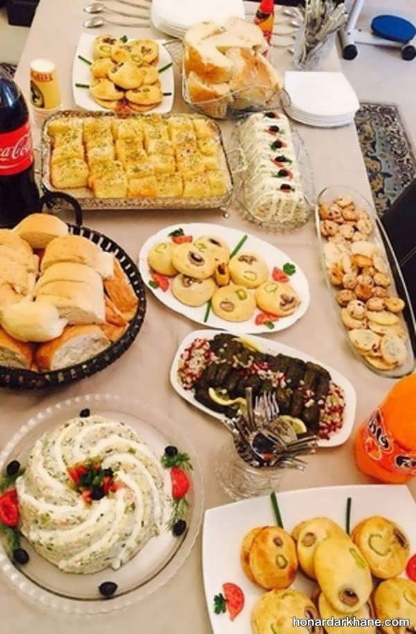 انواع تزیین زیبا و جذاب غذا برای مهمانی