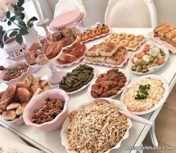 انواع سبک های شیک تزیین غذا