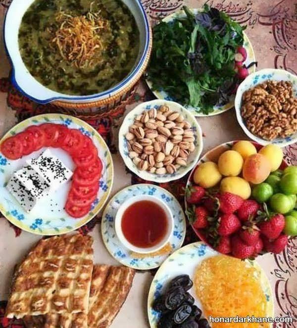 ندل های خلاقانه زیبا سازی غذا برای پذیرایی