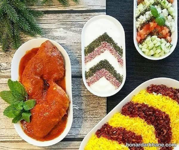 انواع تزیین شیک و جالب غذا