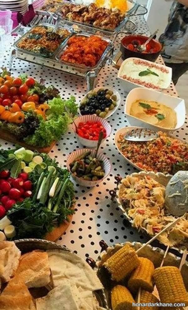 انواع ایده های جالب تزیین غذا