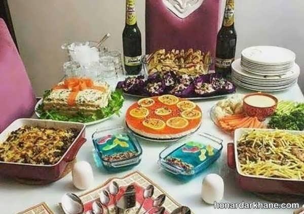 مدل های شیک و جدید چیدمان غذا برای مهمانی