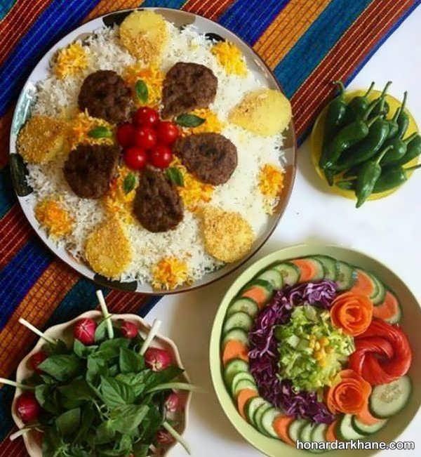 مدل های زیبا و جدید دیزاین غذا برای مهمانی