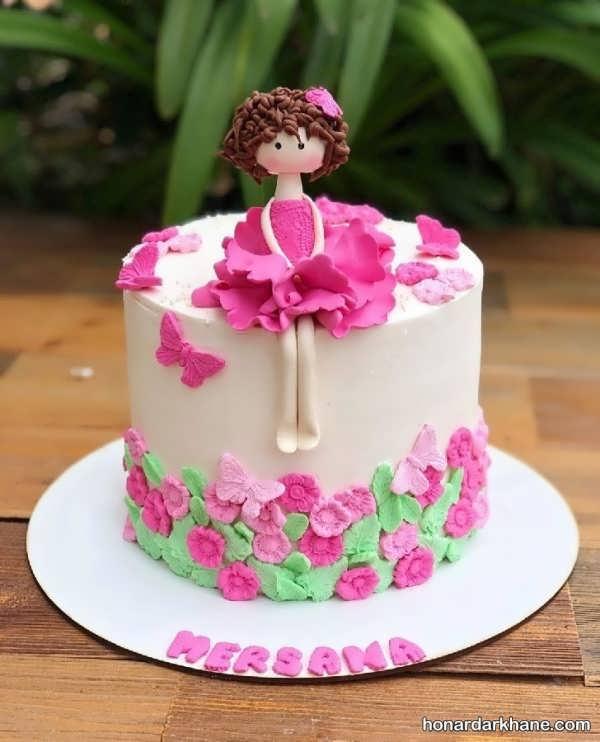 انواع سبک های جدید دیزاین کیک دخترانه