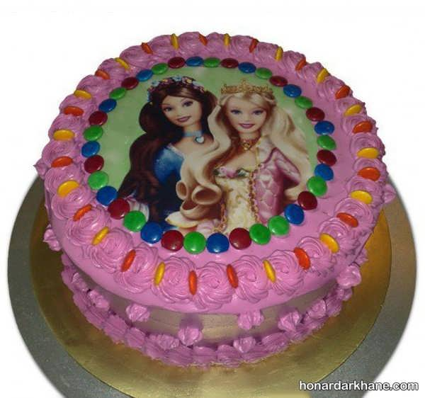 انواع تزیینات فانتزی کیک دخترانه