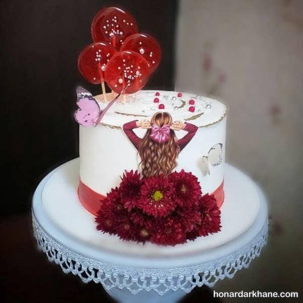 انواع تزیینات جالب کیک دخترانه
