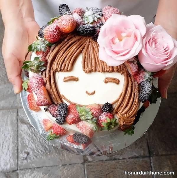 انواع سبک های جالب دیزاین کیک دخترانه