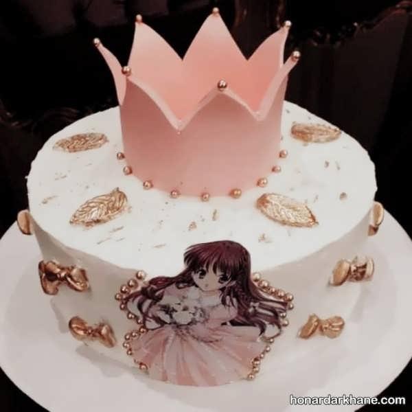 مدل های جالب تزیین کیک دخترانه
