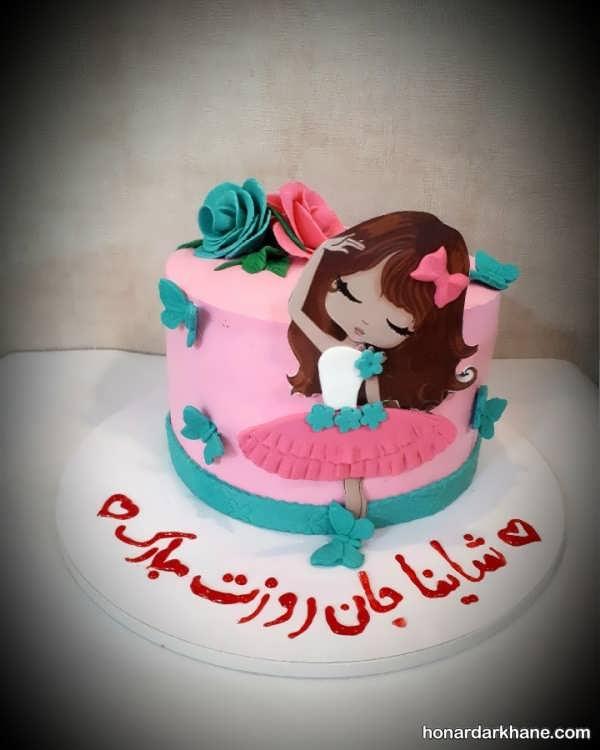 انواع تزیین جالب و جدید کیک دخترانه