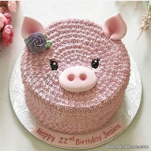انواع طرح های فانتزی دیزاین کیک دخترانه
