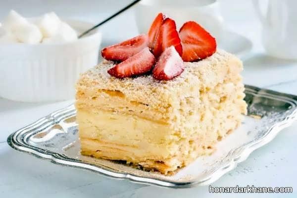 طریقه پخت شیرینی ناپلئونی