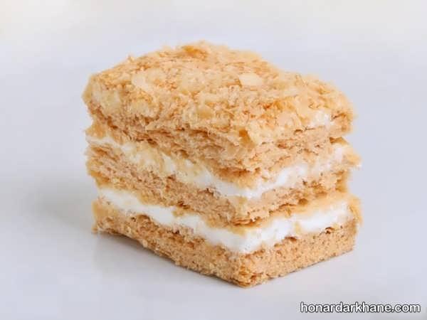 نحوه پخت شیرینی ناپلئونی در خانه