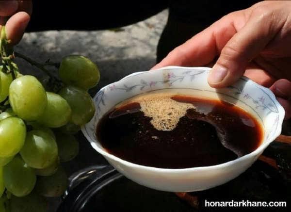 دستور تهیه شیره انگور در خانه