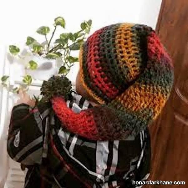 انواع کلاه بافتنی جوکری زیبا