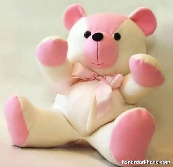 مراحل درست کردن عروسک خرس