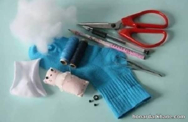 نحوه درست کردن عروسک خرس