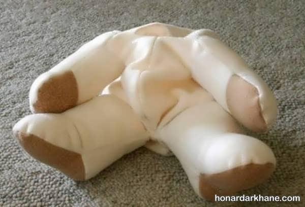 شیوه ساختن عروسک خرس زیبا