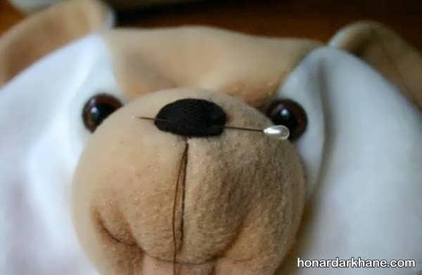 شیوه ساختن عروسک خرس با الگو