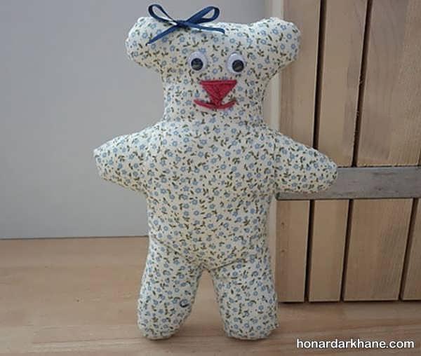 آموزش تصویری درست کردن عروسک خرس