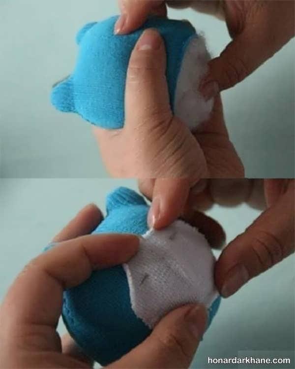 شیوه ساختن عروسک خرس ساده و زیبا