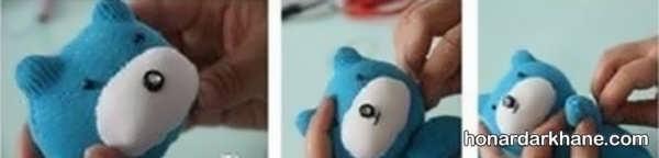 نحوه درست کردن عروسک خرس ساده