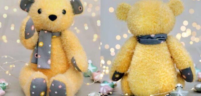 نحوه ساخت عروسک خرس با الگو