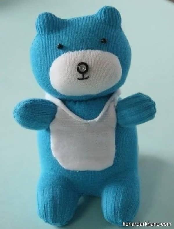 طریقه درست کردن عروسک خرس ساده