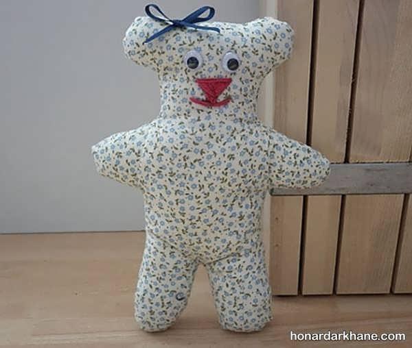 روش درست کردن عروسک خرس پارچه ای
