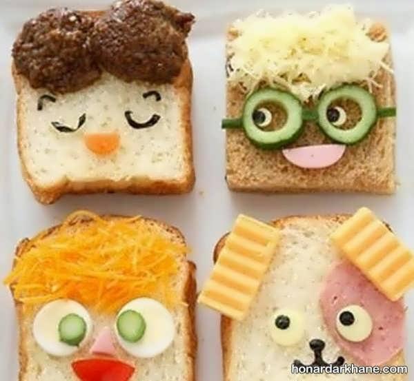 انواع دیزاین جالب ساندویچ
