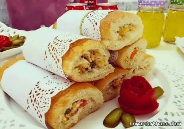 انواع تزیین ساندویچ در سبک های مختلف