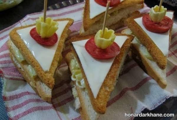 انواع سبک های فانتزی دیزاین ساندویچ