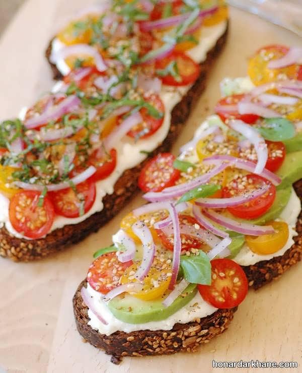 انواع تزیین زیبا و جذاب ساندویچ