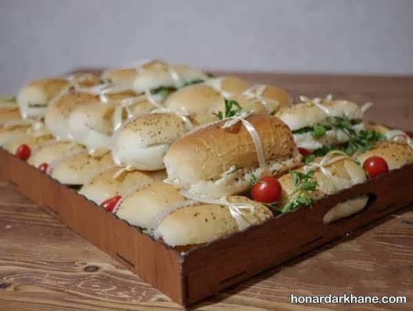 انواع سبک های جذاب تزیینات ساندویچ