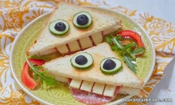 انواع ایده های شیک دیزاین ساندویچ