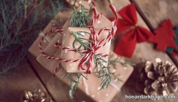 انواع ایده های خلاقانه تزیین کادو کریسمس