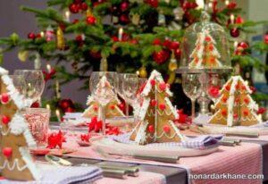 دیزاین شیک و خاص میز کریسمس