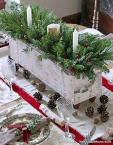 انواع چیدمان زیبا و خلاقانه میز کریسمس