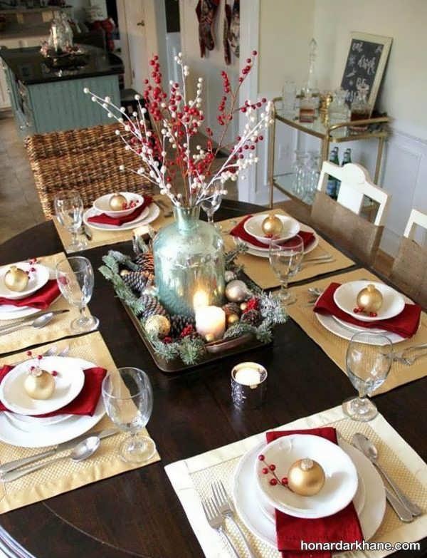انواع تزیینات جالب میز کریسمس