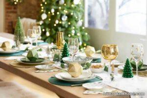 انواع دیزاین متنوع میز کریسمس