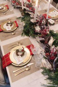 چیدمان میز کریسمس با ایده های خلاقانه