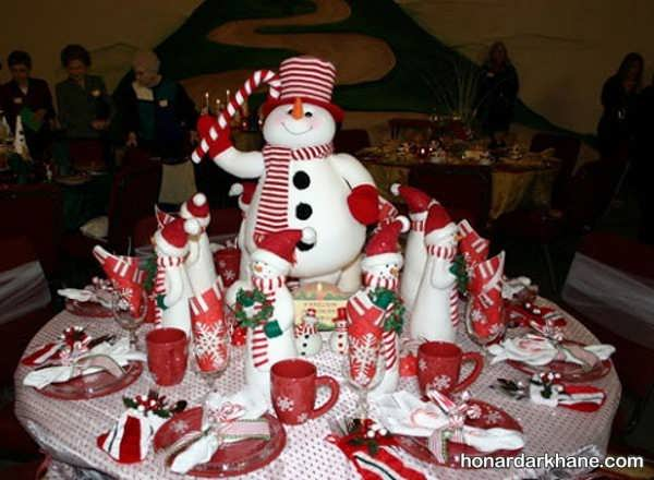 دیزاین میز کریسمس با تم های جذاب
