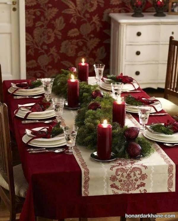 تزیینات خلاقانه میز کریسمس