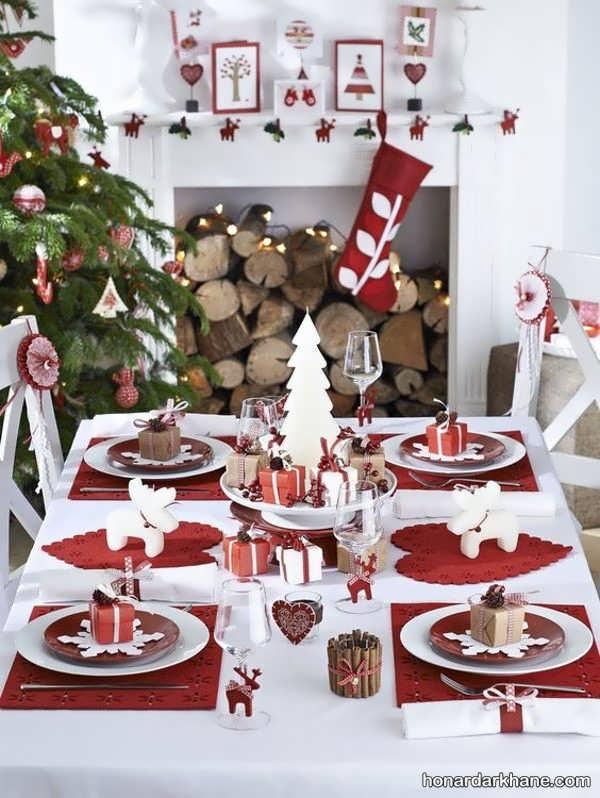 مدل های جدید و زیبا دیزاین میز کریسمس